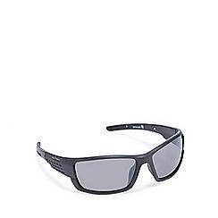 Bloc - Black wrap-around polarised sunglasses