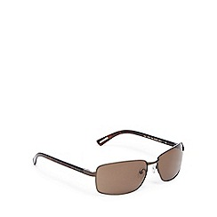 Ted Baker - Brown rectangle sunglasses