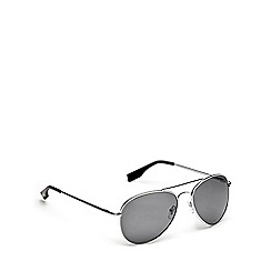 STORM - Silver grey aviator sunglasses