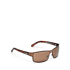 STORM - Brown metal sunglasses