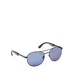 STORM - Blue tinted round sunglasses