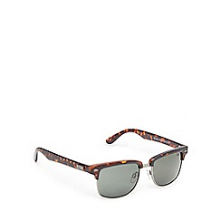 STORM - Brown tortoiseshell semi rimless sunglasses
