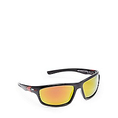 Stormtech - Black polarised wrap-around rectangle sunglasses