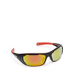 Stormtech - Black and red polarised wrap-around rectangle sunglasses