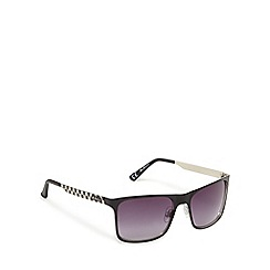 Ben Sherman - Black checked D-frame sunglasses