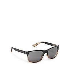 Ben Sherman - Brown striped D-frame sunglasses