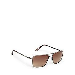 Ben Sherman - Gunmetal and brown aviator sunglasses