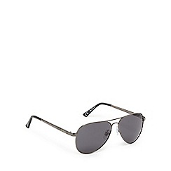 Ben Sherman - Gunmetal aviator sunglasses