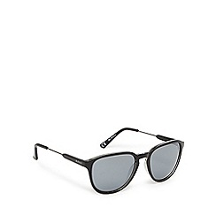 Ben Sherman - Black round D-frame sunglasses