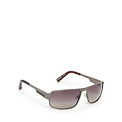 Suuna - Gunmetal and grey rectangular sunglasses