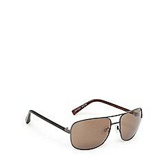 Suuna - Gunmetal and brown aviator sunglasses