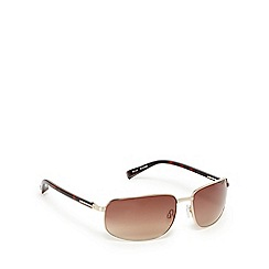 Suuna - Gold and brown rectangular sunglasses