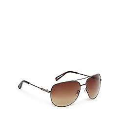 Suuna - Silver and brown aviator sunglasses