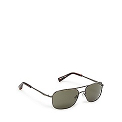 Suuna - Gunmetal and green aviator sunglasses