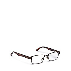 Magnivision - Brown tortoiseshell metal frame reading glasses