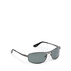 Dirty Dog - Green polarised rectangle sunglasses