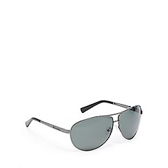 Dirty Dog - Green polarised aviator sunglasses