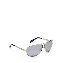 Dirty Dog - Silver polarised aviator sunglasses