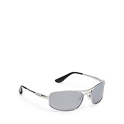 Dirty Dog - Silver polarised rectangle sunglasses