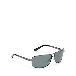 Dirty Dog - Gunmetal polarised rectangle sunglasses