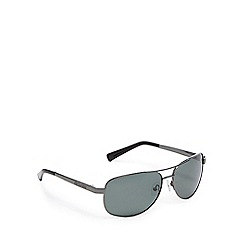 Dirty Dog - Gunmetal polarised aviator sunglasses