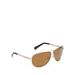Dirty Dog - Gold polarised aviator sunglasses