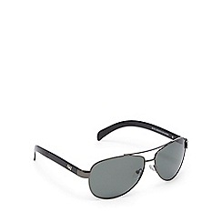 Dirty Dog - Black polarised aviator sunglasses