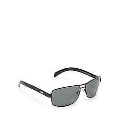 Dirty Dog - Black polarised square frame sunglasses