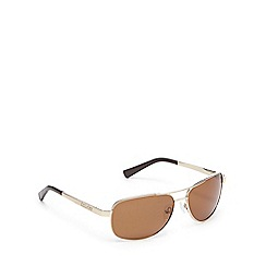 Dirty Dog - Brown polarised aviator sunglasses