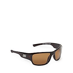 Dirty Dog - Brown polarised tinted wrap around sunglasses