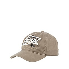 Animal - Taupe logo applique baseball cap