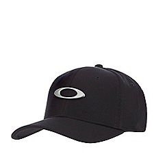 Oakley - Black logo applique baseball cap