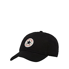 Converse - Black twill baseball cap