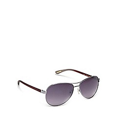 Ted Baker - Silver 'Oliver' aviator sunglasses