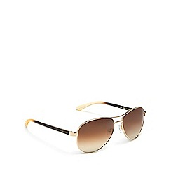 Ted Baker - Gold aviator sunglasses
