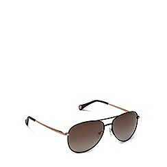 Ted Baker - Black 'Nova' aviator sunglasses