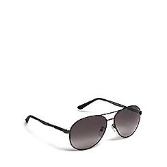 Police - Black tinted aviator sunglasses