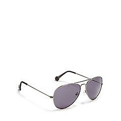 Converse - Grey flat aviator sunglasses