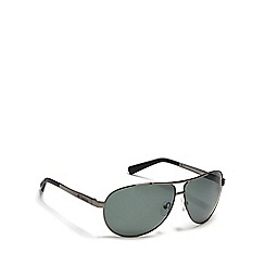 Dirty Dog - Green 'Doffer' polarised aviator sunglasses
