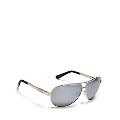 Dirty Dog - Silver 'Doffer' polarised aviator sunglasses