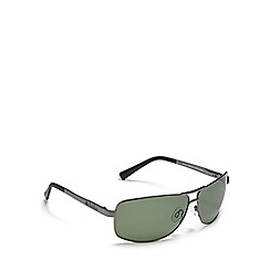 Dirty Dog - Green 'Steed' polarised D-frame sunglasses