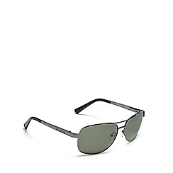 Dirty Dog - Green 'Crofter' polarised aviator sunglasses