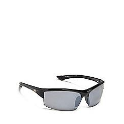 Dirty Dog - Black 'Sly' polarised semi rimless sunglasses