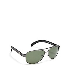 Dirty Dog - Green 'Metro' polarised aviator sunglasses