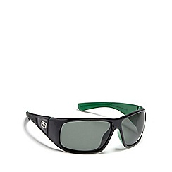 Dirty Dog - Green 'Ultra' polarised wrap-around sunglasses
