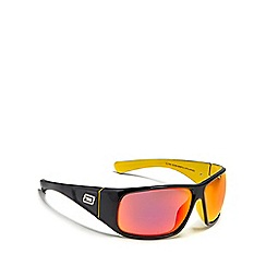 Dirty Dog - Black 'Ultra' polarised wrap-around sunglasses