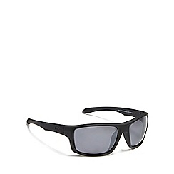 Dirty Dog - Black 'Axle' stealth polarised square sunglasses