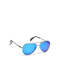 Dirty Dog - Silver 'Maverick' aviator polarised sunglasses