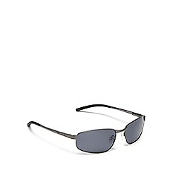 Bloc - Silver rectangle sunglasses
