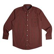 Big and tall red tartan shirt